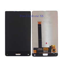 100% elephone s8 lcd 디스플레이 + 터치 스크린 6.0 인치 디지타이저 구성 요소 유리 교체 부품 + 도구 테스트