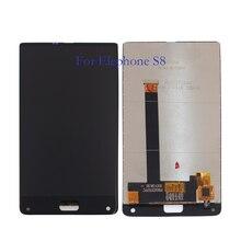 100% testados para elephone s8 display lcd + touch screen, 6.0 polegadas, digitalizador componente de vidro, peças de reposição + ferramentas