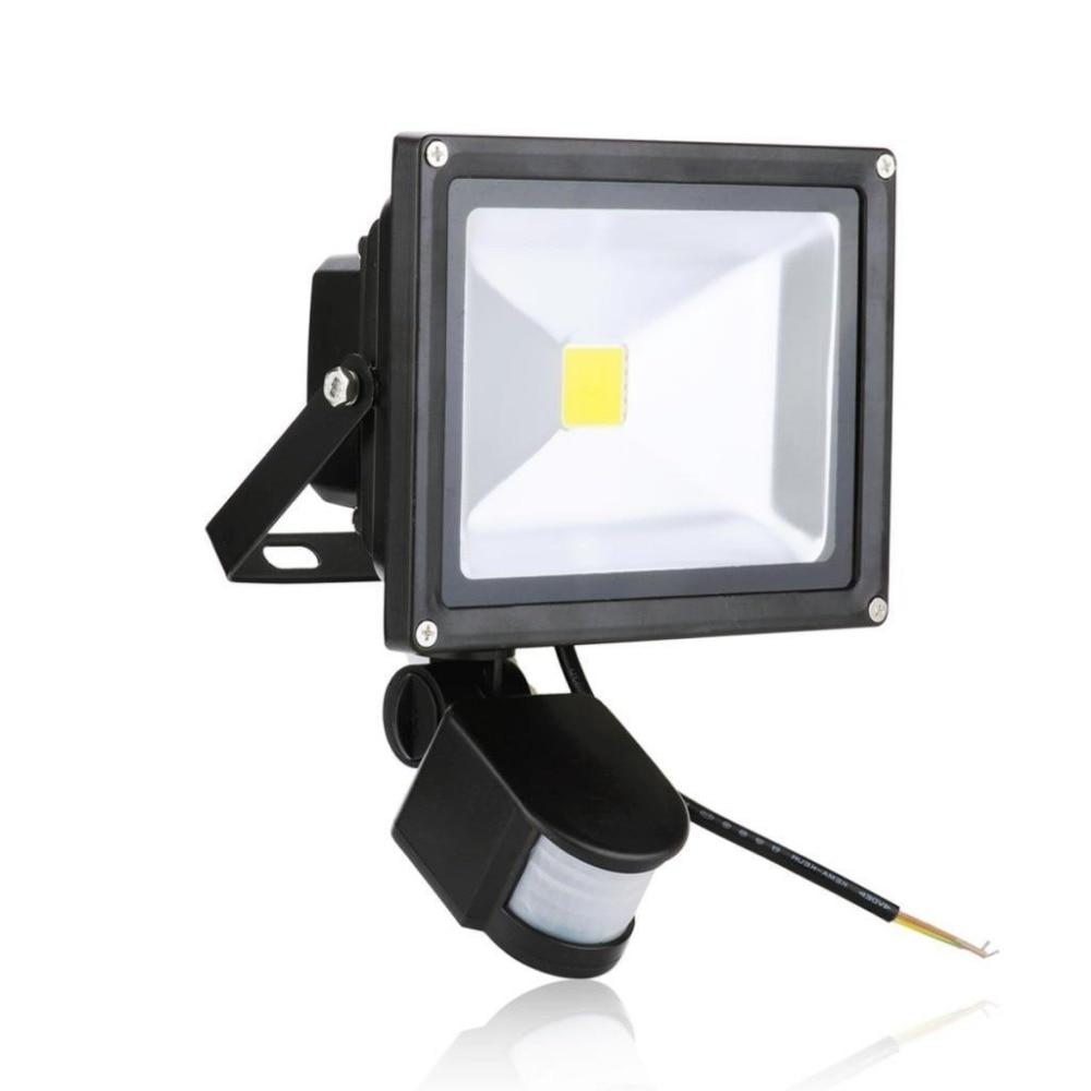 PIR Sensor LED Flood Light Motion Sensor Waterproof IP65 Outdoor AC85 265V  30W Garden LED
