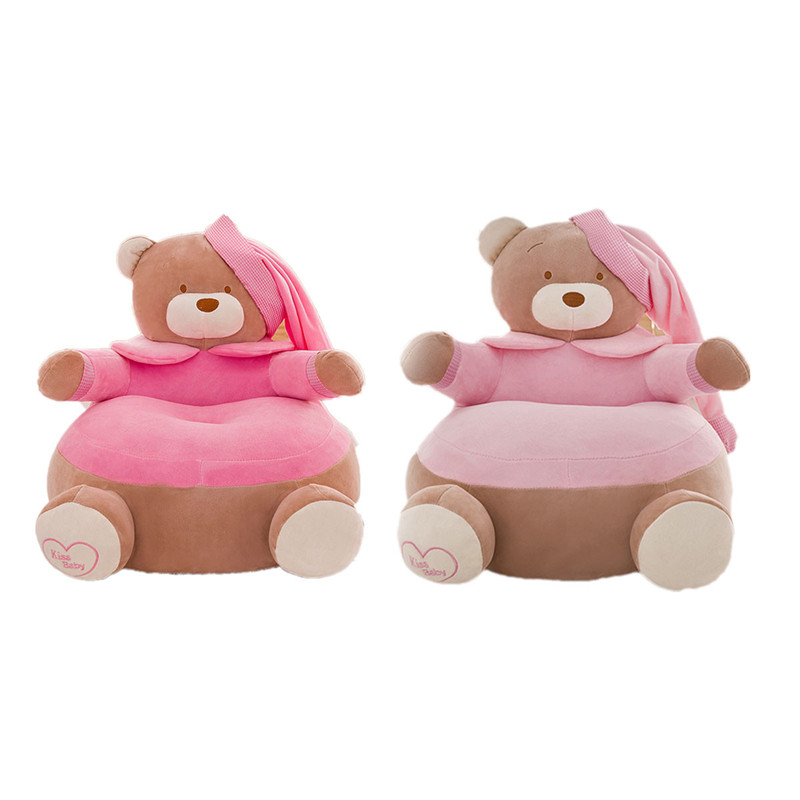 Cartoon Bear Baby Cute Cover For Sofa Only Cover No Filling Washable Seat Skin Kids Cover For Children
