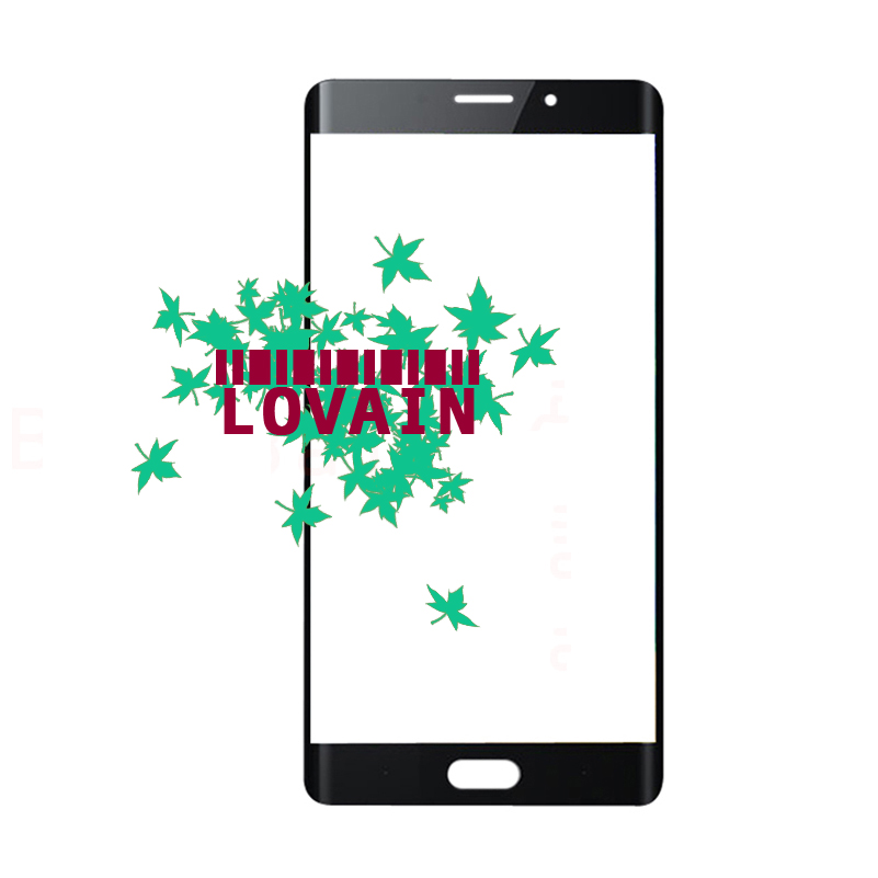 LOVAIN 10PCS Black Genuine Original For Xiaomi Mi Note2 Note 2 Front Glass Lens 5 7