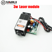 3w high power 450NM focusing blue laser module laser engraving and cutting TTL module 3000mw laser tube+laser protect goggles