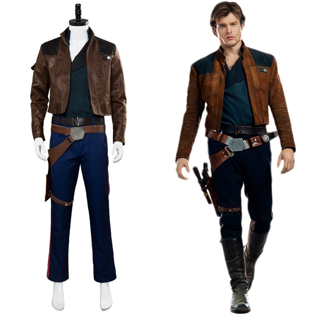 Movie Solo: A Star Wars Story Cosplay Costume Han Solo Cosplay Costume Full   Set Halloween Carnival Cosplay Costume