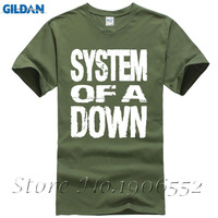 System Of A Down SOAD T Shirt Men Premium Short Sleeve EAGLES OVERCOME ROCK METAL MUSIC