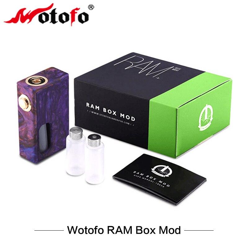 Cigarette électronique Original Wotofo RAM boîte Mod avec 7 ml Squonk bouteille 510 fil Vape Mod pour E cigarettes vaporisateur Vaper nouveau
