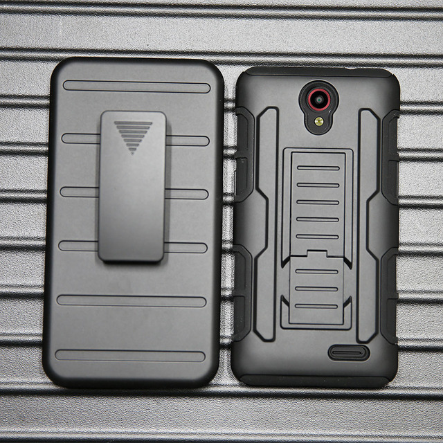 Heavy Duty Armor Case Anti Shock Belt Clip Holster Phone Cover For ZTE Prestige 2 N9136/Maven 3 Z835/Overture 3/Prelude+ Z851