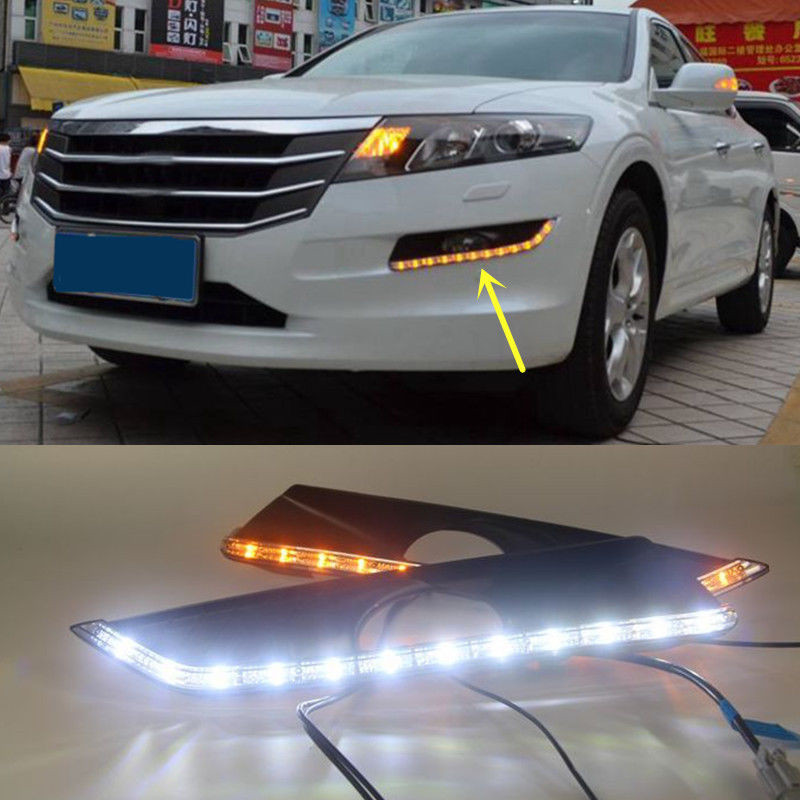 Car Accessories LED DRL For Honda Crosstour 2011 2012 2013 Daytime Running Light Fog Lamp Daylight  water tight o ring seal 30mm 20 pack