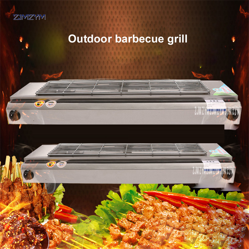 1PC 110 Stainless steel Smokeless barbecue grill gas Household non stick Gas Stove plate Indoor BBQ Barbecue Tool two switches