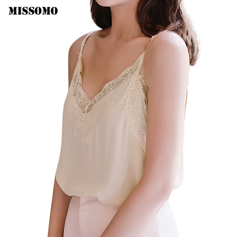 Enthousiast Missomo Womens Hollow Lace Mesh Zomer Hemdjes Dames Casual Mouwloos Vest Shirt Wit Tank Tops Hot Sale 50-70% Korting