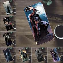 Quinn macio Telefone Para Apple iPhone 4 4S 5 5C SE 6 6 s 7 8 Plus X Galaxy A3 a5 J1 J2 J3 J5 J7 2017 Homem De Ferro Batman Ca Vara Em(China)