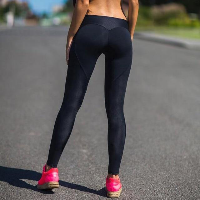 Leggings Women Workout Pants Polyester Slim Black Pencil Pants Fitness Mujer Trouser Seamless Gothic Push Up Leggings Jeggings