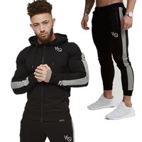 Gyms Men's Sets 2018 Fashion Sportswear Tracksuits Sets Men's GYMS Hoodies+Pants casual Outwear Suits Chandal Hombre Completo