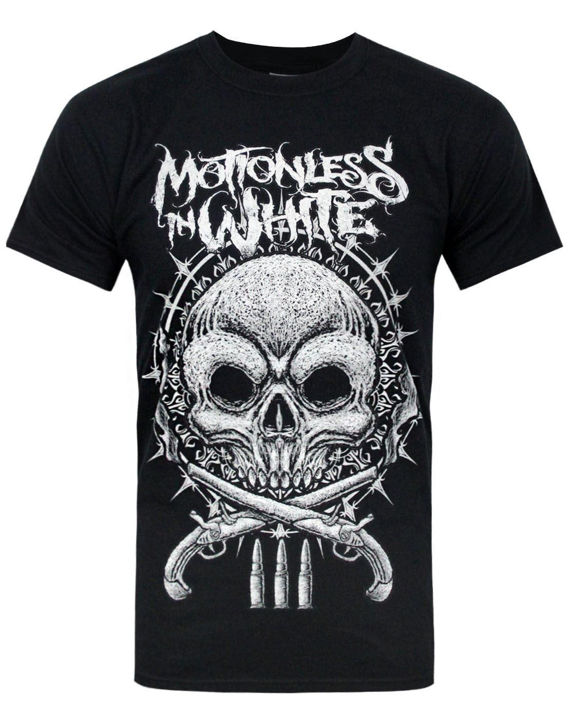 Mens Motionless-in-White Tee Shirt Cool Mesh Cotton Short Sleeve