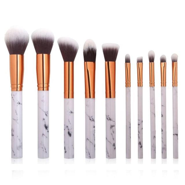 5 PCs pinceles de maquillaje suaves unids Y suaves profesionales Set de base corrector sombra de ojos cejas delineador de ojos cepillo de belleza # Y