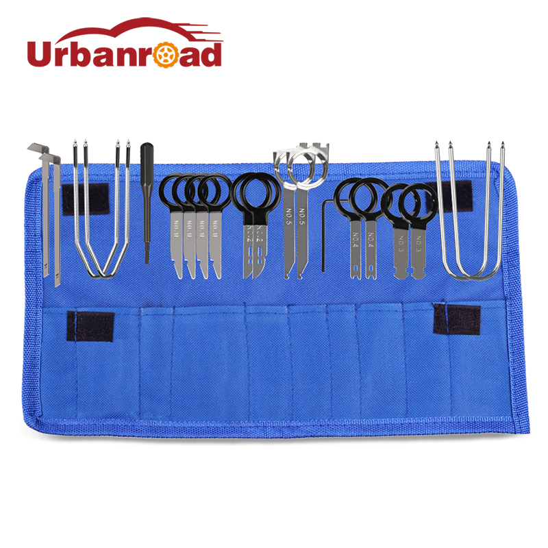 Urbanroad 20Pcs/Set Car Door Clip Panel Radio Removal Tool Plastic Auto Car Dash Audio Removal Installer Pry Repair Tools Clip