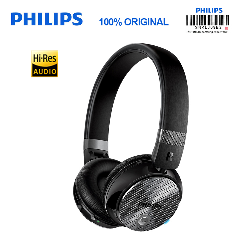 Original Philips SHB8850 Wireless Bluetooth Headphones Active Noise Cancelling NFC Headset with Microphone for S9 S9 Plus