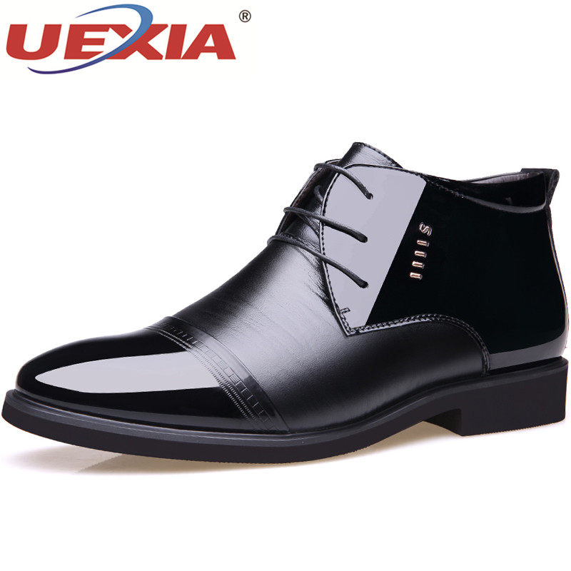 UEXIA New Men Winter Warm Boots Casual Shoes Men Fashion Plush Snow Boots with Fur Cow Leather Footwear botas Casual Flats Male xiaguocai new arrival real leather casual shoes men boots with fur warm men winter shoes fashion lace up flats ankle boots h599
