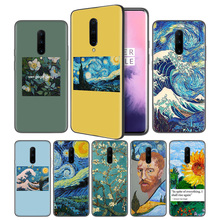 Aesthetic Van Gogh Soft Black Silicone Case Cover for OnePlus 6 6T 7 Pro 5G Ultra-thin TPU Phone Back Protective