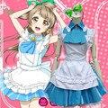 Новый Японский Аниме Love Live Минами Kotori Косплей Хэллоуин Костюмы Для Женщин Синий Кафе Горничной Одежды На Складе ZQ022