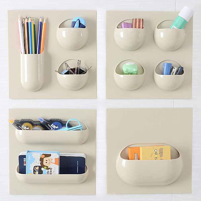 New High quality Plastic Desktop Kitchen Bedroom Makeup Sitting Room Supplies Storage Rack Holder Office Sundries Organizers