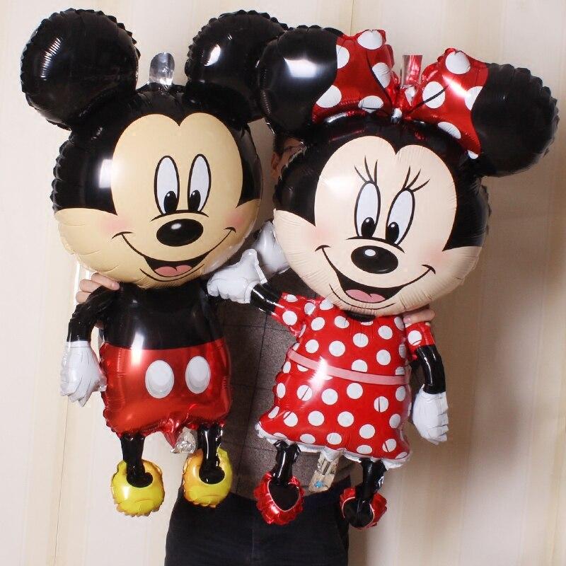 1 Pc 110 Cm Riesen Mickey Minnie Folie Luftballons Große Rot Schwarz Stehend Baby Junge Mädchen Kinder Geburtstag Hochzeit Partei Dekorationen Globos Herausragende Eigenschaften
