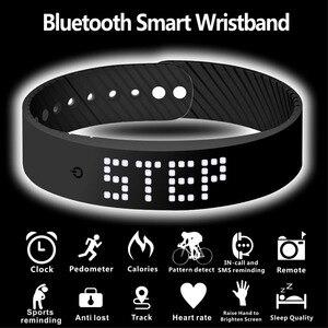Image 4 - חכם צמיד 3D כושר tracker Bluetooth צמיד עמיד למים led תצוגת שעון עבור huawei xiaomi אנדרואיד IOS 2019 newversion