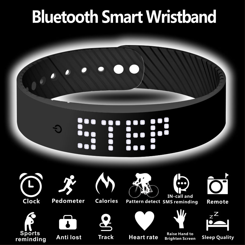 Image 4 - smart wristband 3D fitness tracker Bluetooth bracelet waterproof led display watch for huawei xiaomi Android IOS 2019 newversion-in Smart Wristbands from Consumer Electronics