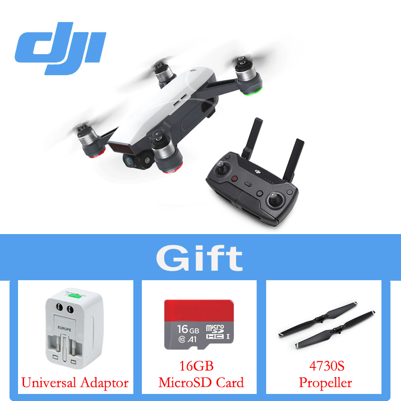 In Stock DJI Spark With Remote Controller The Drone 1080P HD Camera Drones Quadrotor RC FPV Quadcopter Original Sparks dji spark drone 3 in 1 car charger battery charging