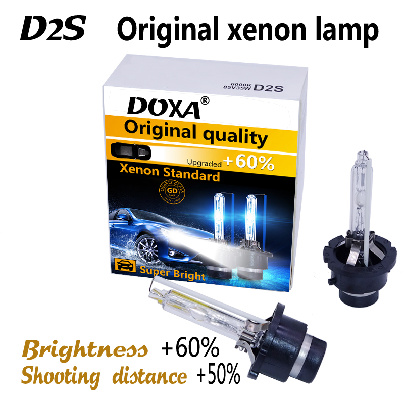 Kostenloser versand!! (2 teile/los) Auto Scheinwerfer Xenon D2S HID Birne Lampe 4300 Karat Warmes Weiß, 6000 Karat weiß D2S Heißer Verkauf