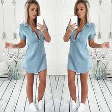 Popular Short Denim Dresses For Women Buy Cheap Short Denim