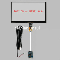 7 Inch 165 100mm GT911 6pin Capacitive Touch Screen Usb Control Card Windows 7 8 10