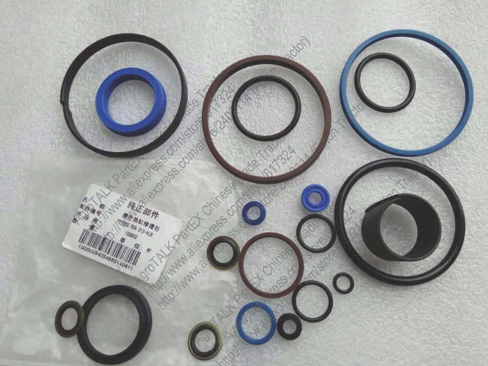 Foton Lovol 80hp series tractor, the hydraulic lift O seals kit, part number:PFT800.55A.012-XLB rubber seals for fluid and hydraulic systems