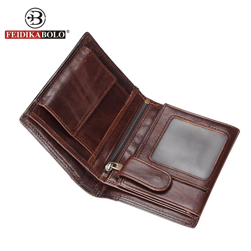 FEIDIKA BOLO Men Wallets Famous Brand Men Clutch Bags Retro Leather Wallet Mens Wallet Genuine Leather Purses credit card holder brand double zipper genuine leather men wallets with phone bag vintage long clutch male purses large capacity new men s wallets