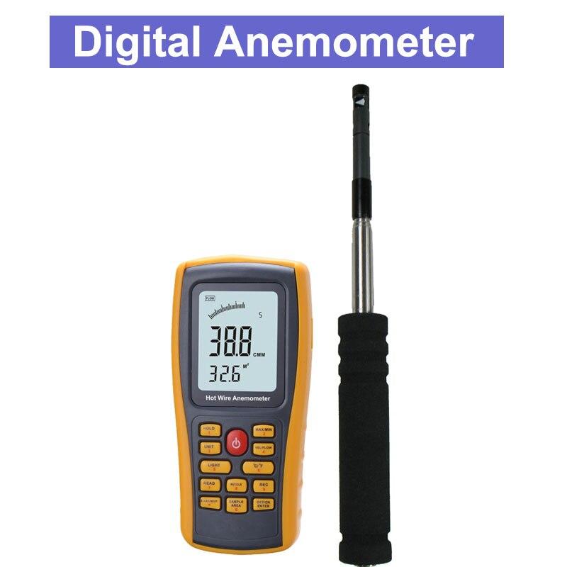 8903 Thermal Hot-film Anemometer Digital Anemometer Meter Tester Wind Speed Wind Temperature Air Volume Measurement стоимость