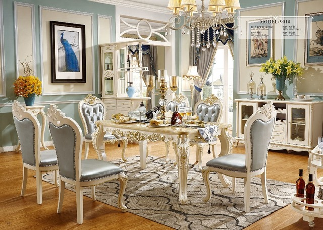 Cheap Price High Quality Solid Wood Dining Room Table And Chair Furniture  Sets Made In China