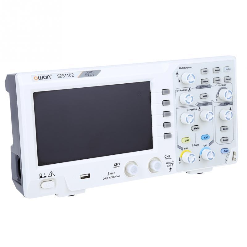 Oscilloscope SDS1102 Digital Oscilloscopes High 1GS Oscilloscope Accuracy 2 Channel OWON Bandwidth S 100MHZ