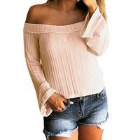 snowshine4 #5022 Women Long Sleeve Off Shoulder Long Coat Jacket Casual Sweater