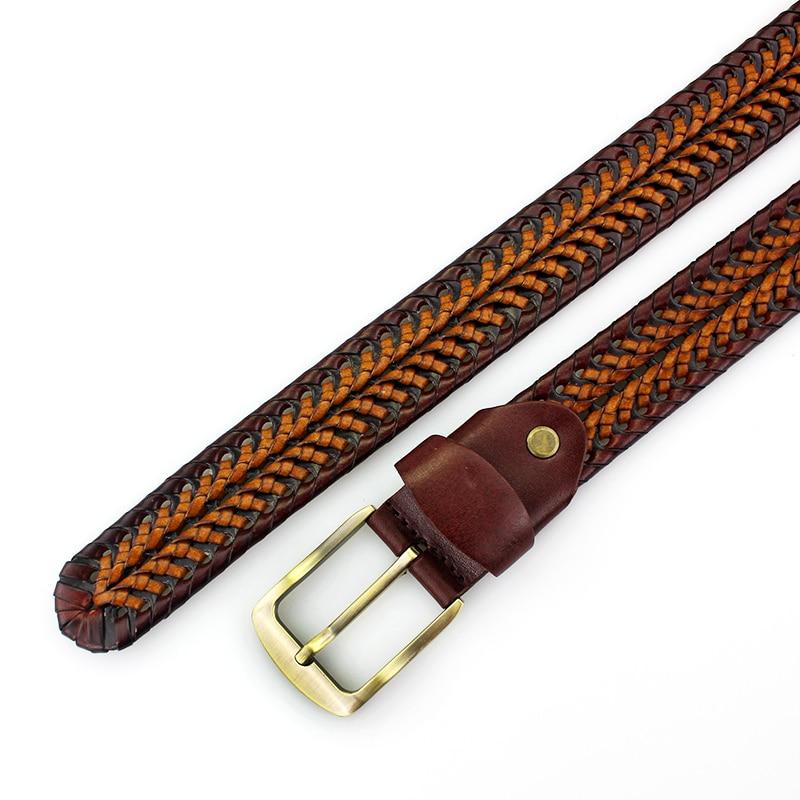 1eb57455b 2019 nuevo cinturón de Moda hombre cinturones de cuero genuino de lujo  trenzado Real de piel de vaca correas hombres Jeans de faja de hombre  MQ1621 en Los ...