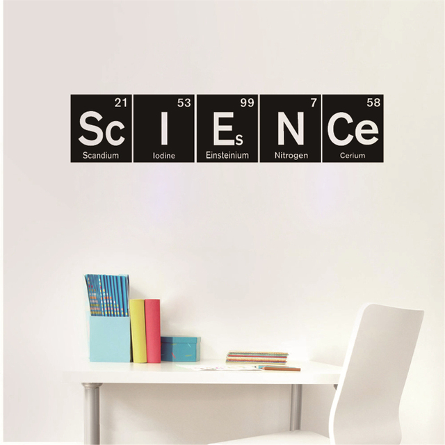 Science Vinyl Wall Decals Art Decor Periodic Table Elements Sticker For