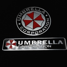 3D Aluminum Umbrella corporation car sticker accessories stickers For ford focus cruze kia rio skoda octavia mazda opel M bmw vw