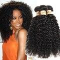 Бразильский Kinky Вьющиеся Девы Волос 3C ~ 4А Вьющиеся Weave Человеческих Волос Ткачество 4 Пучки Норки Человеческих волос tissage bresilienne