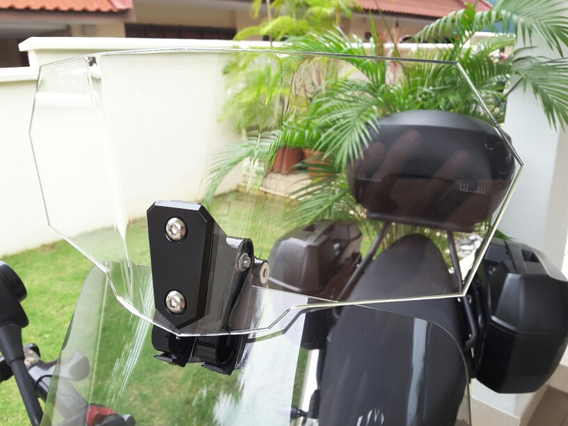 Clear Adjustable Touring Wind Deflector Windshield Variable Spoiler for BMW R1100S R1200GS S1000RR F800GS Triumph Tiger Explorer for triumph tiger 800 tiger 1050 tiger explorer 1200 easy pull clutch cable system