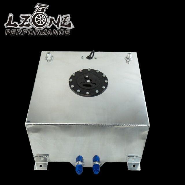 LZONE RACING - 40L Aluminium Fuel Surge tank with Cap Fuel cell 40L with sensor foam inside JR-TK40 pqy racing 60l aluminium fuel surge tank with sensor fuel cell 60l with cap foam inside pqy tk41