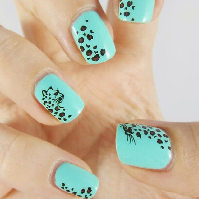 Leopard Design Nail Art Stickers