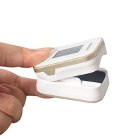 1 PC Digital Finger Oximeter With Alarm Setting OLED Display Carry Case SPO2 Oxygen Sensor And