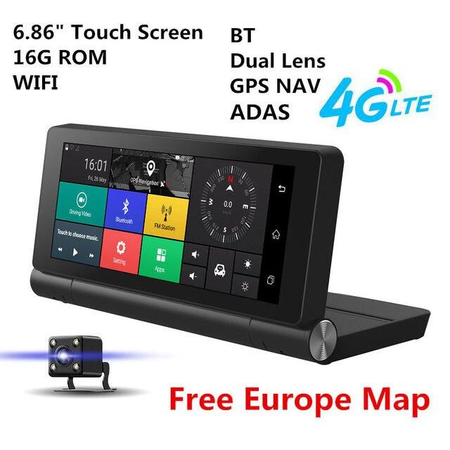 Carte Gps Amerique Du Nord.6 86 Hd 1080 P 4g Bluetooth Wifi Double Lentille Voiture Suv Dvr