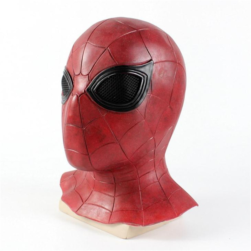 Superhero Spider Man Mask Cosplay Head Latex Helmet Props Anime Accessories Christmas Halloween Party Costumes For Men Adult