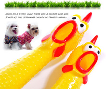 Free Shipping Funny Screaming Chicken Dog Lovely Squeak Pet Toys Booming Hot Sale for Large/small Dogs