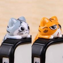 3.5mm earphone jack phone accessories 20pcs cute cat dust pl
