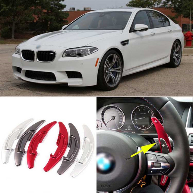 Savanini 1pair Alloy Add-On Steering Wheel DSG Paddle Shifters Extension For BMW M5 2014-2016